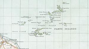 Farne Islands - A map of Farne Islands in 1947