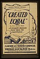 "Federal Theatre Project presents ""Created equal"" by John Hunter Booth LCCN98516893.jpg"