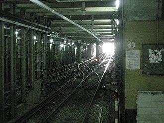 Federico Lacroze (Buenos Aires Underground) - Image: Federico Lacroze, rampa del subte al ferrocarril
