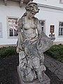 Female figure with fish in the courtyard of the Museum of Military History. - Arpad Toth Promenade 40, Buda Castle Quarter, Budapest.JPG