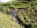 Fence crossing, Howliston Burn - geograph.org.uk - 425035.jpg