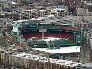 Fenway Park - Fenway in 2012, with additions to the left field grandstand