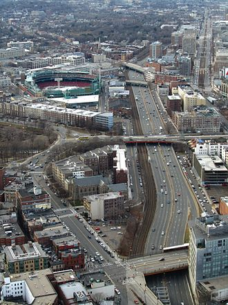 Fenway–Kenmore - Fenway–Kenmore neighborhood seen from Prudential Skywalk, January 2012.