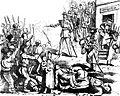 Fericirile grămădite pe capetele contribuabilorŭ. — Scenă petrecută la Giurgiu, Ghimpele, 25 mar 1873.JPG