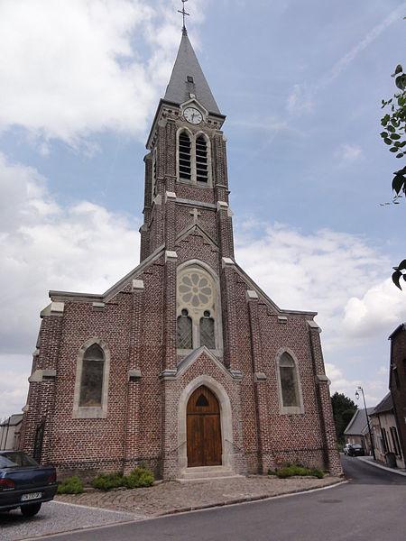 Fieulaine (Aisne) église