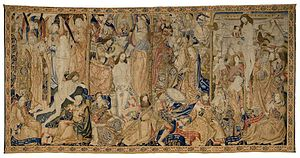 Apostles' Creed - 15th-century Flemish tapestry illustrating the first four articles of the Creed