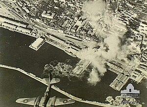 Fiume (Rijeka) bombing by RAF in 1944