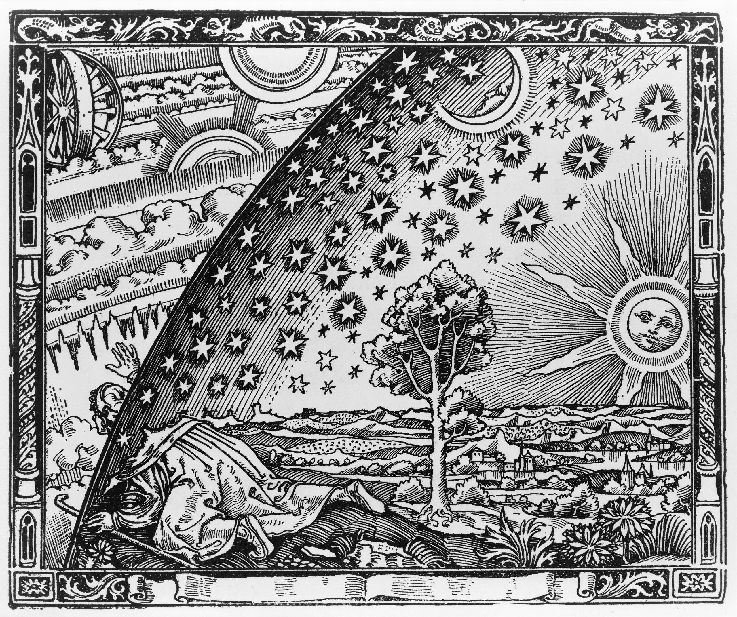 Flammarions Holzstich