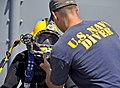 Flickr - Official U.S. Navy Imagery - A Navy diver conducts a pre-dive equipment check..jpg