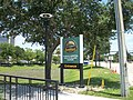 Florida Health SunRail Station FL 438 entrance sign.JPG