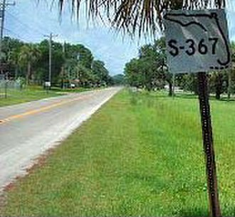 "Florida State Highway System - Old Secondary State Road (""SR S-367"") sign in Shell Point"