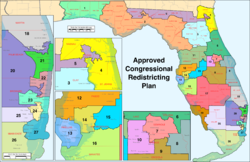 Florida Us Representatives District Map Florida's congressional districts   Wikipedia