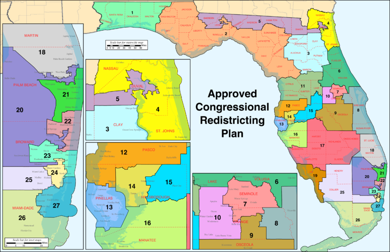 floridas congressional districts approved - HD4581×2961