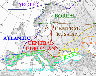 Atlantic Europe - Floristic regions in Europe