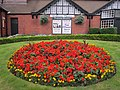 Flowerbed outside the Gladstone Theatre, Port Sunlight.JPG