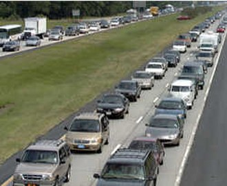 Hurricane Floyd - Evacuation on Interstate 26