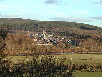 Fochabers - Image: Fochabers and the Spey