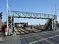 Footbridge at Wellowgate Level Crossing - geograph.org.uk - 763071.jpg