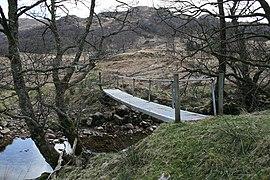Footbridge over Laudale River near Cillmairi - geograph.org.uk - 777456.jpg