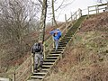 Footpath Staircase leading to Horse Close - geograph.org.uk - 1775973.jpg
