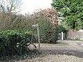 Footpath sign near the parish church at Walberton - geograph.org.uk - 1726982.jpg