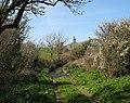 Ford across Afon Gwna below the ruins of Pen-y-bont - geograph.org.uk - 784082.jpg