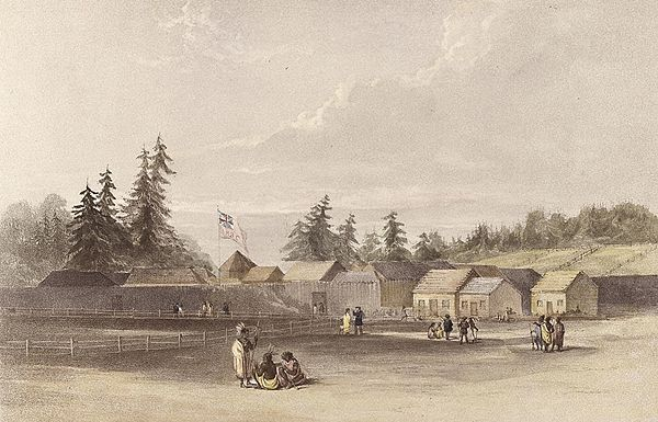 Fort Vancouver in 1845. Fort Vancouver 1845.jpg