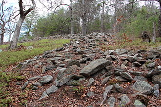 Moon-eyed people - Fort Mountain stone fortification ruins