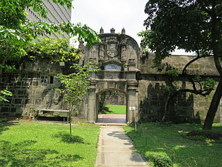 historic military fortification in Manila