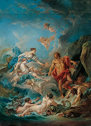 Aeolus (son of Hippotes) - Image: François Boucher Kimbell 'Juno Asking Aeolus to Release the Winds'