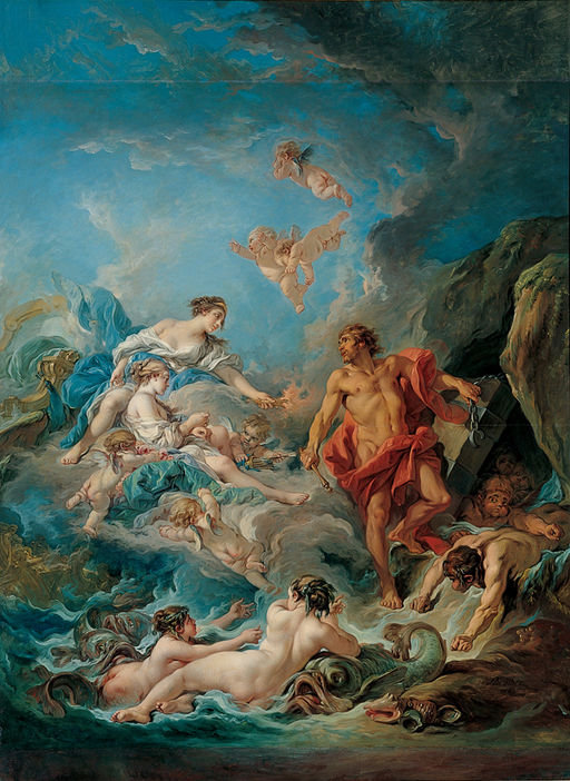 François Boucher - Kimbell 'Juno Asking Aeolus to Release the Winds'