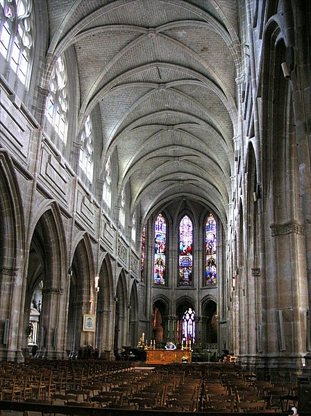 France, Blois Cathedral interior