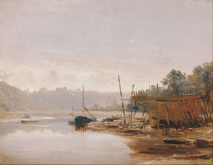 Boat Building near Dinan, Brittany