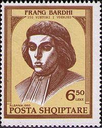 Frang Bardhi 1993 Albania stamp.jpg