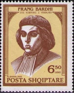 Frang Bardhi - Frang Bardhi on a 1993 Albanian stamp