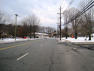 Franklin Corner, New Jersey - Approaching the center of Franklin Corner from CR 546 westbound