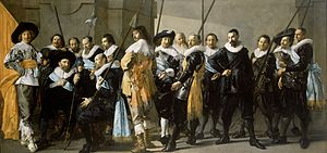 "Schutterij - De Magere Compagnie (""The Meagre Company""), a schutterstuk for one of the Amsterdam guilds by Frans Hals and Pieter Codde, painted in 1633-37."