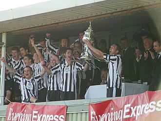 Aberdeenshire Cup - Fraserburgh lifting the 2012–13 cup