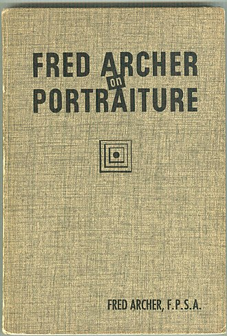 Fred R. Archer - Cover of Fred Archer on Portraiture