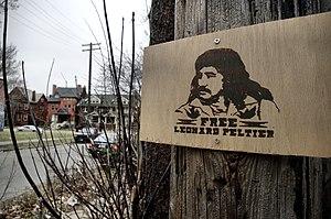'free LEONARD PELTIER' / Trumbullplex (Anarchi...