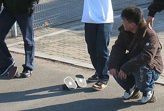 Freeline skates - Freeline skaters resting in Seoul.