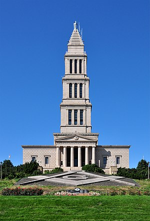 "Golden age of fraternalism - The George Washington Masonic National Memorial is an example of one of the monumental buildings sponsored by the Freemasons during the ""Golden Age of Fraternalism."""