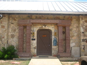 Bandera, Texas - Entrance to the Frontier Times Museum in Bandera