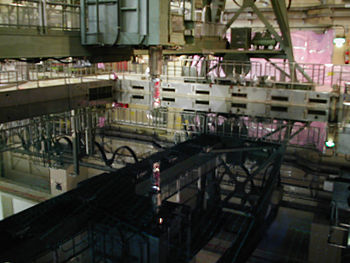 Picture of a fuel pool in one of the reactor b...