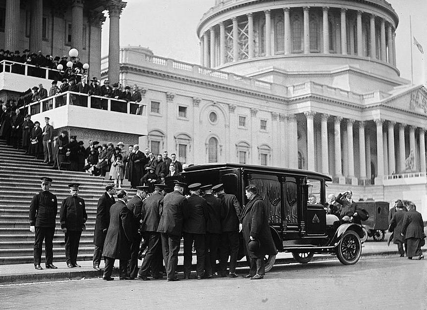 Funeral of Champ Clark, 1921