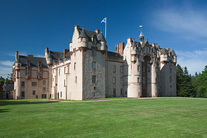 Fyvie Castle - Side view of the castle