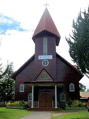 Karo Batak Protestant Church - A Karo people (Indonesia) church affiliated with Karo Batak Protestant Church (GBKP). Kabanjahe, Karo Regency, North Sumatra.