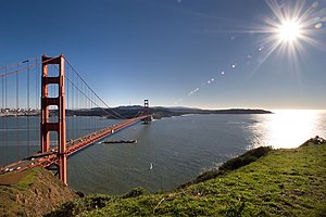 Marin County, California - The view of the Golden Gate Bridge from the Marin Headlands