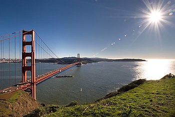 The Golden Gate Bridge and the City of San Fra...