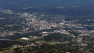 Gadsden, Alabama - Aerial photo of downtown Gadsden